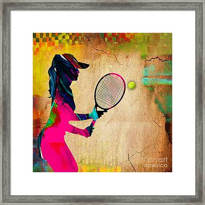 Womens Tennis Painting Framed Print by Marvin Blaine