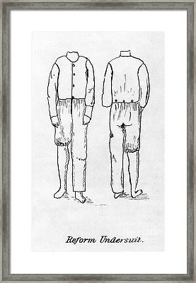 Womens Undergarment, 1878 Framed Print by Granger