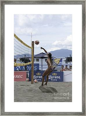 Women's Volleyball Game Framed Print