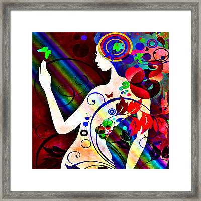 Wonder At The End Of The Rainbow Framed Print