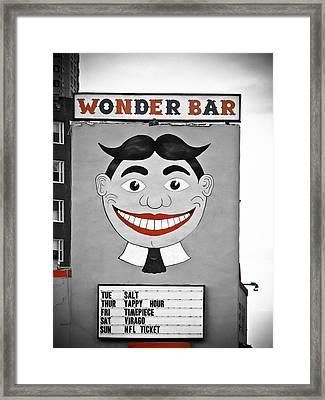 Wonder Bar Framed Print by Colleen Kammerer