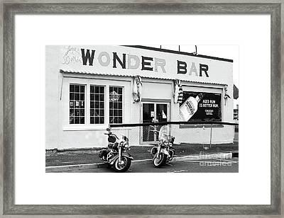 Wonder Bar Framed Print by John Rizzuto