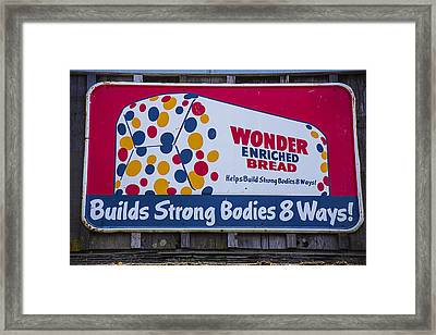 Wonder Bread Sign Framed Print
