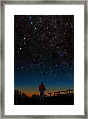 Framed Print featuring the photograph Wonder Filled by Larry Landolfi