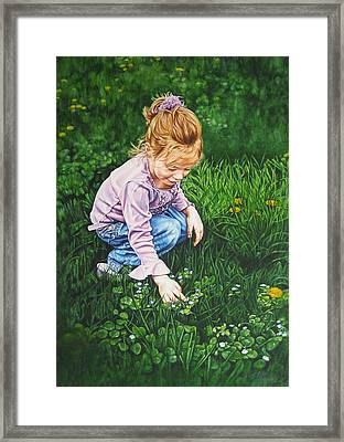 Wonder In A Wildflower Framed Print