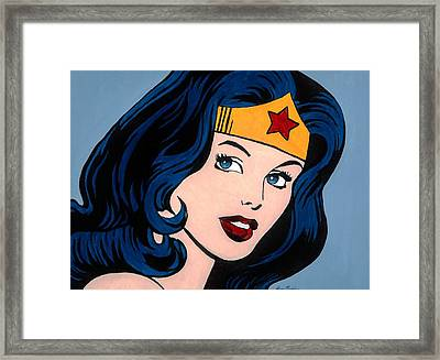 Wonder Woman Framed Print by Brian Broadway
