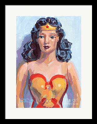 Super Powers Paintings Framed Prints
