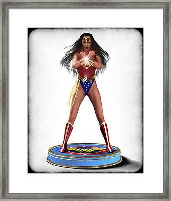 Wonder Woman V2 Framed Print by Frederico Borges