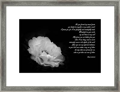 Wonderful Are Your Works Framed Print