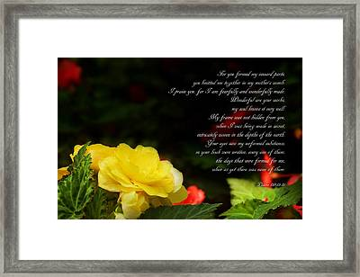 Wonderful Are Your Works - IIi Framed Print