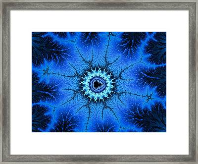Wonderful Blue Relaxing Fractal Art Framed Print by Matthias Hauser