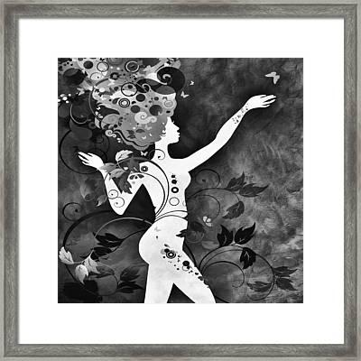 Wonderful Bw Framed Print by Angelina Vick