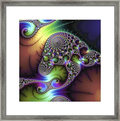 Wonderful Colored Fractal Art Square Format Framed Print