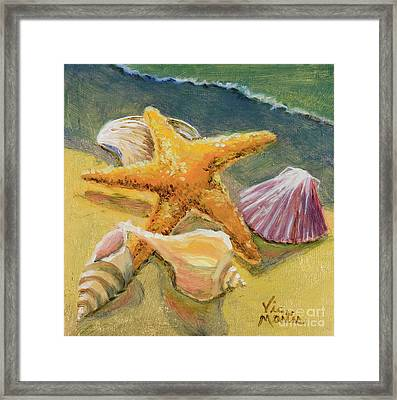 Framed Print featuring the painting Wonderful Find by Vic  Mastis