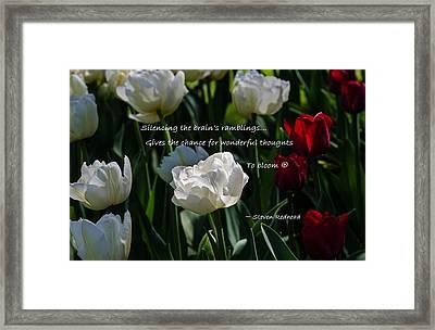 Wonderful Thoughts Bloom Framed Print by Jordan Blackstone