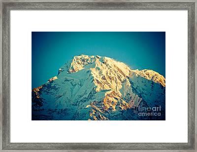 Wonderful Views Of Holy Annapurna South 7237m Framed Print by Raimond Klavins