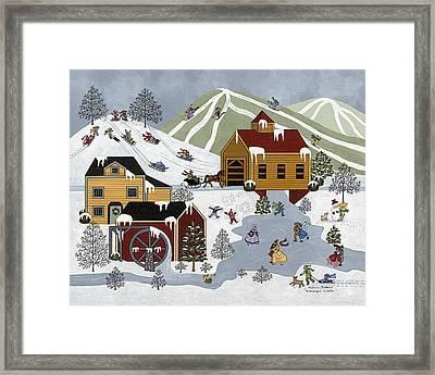 Wonderful Winter Framed Print by Medana Gabbard