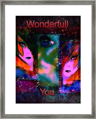 Wonderfull You Framed Print by Pikotine Art