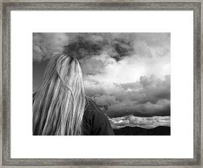 Wondering About Tomorrow Framed Print by Glenn McCarthy Art and Photography