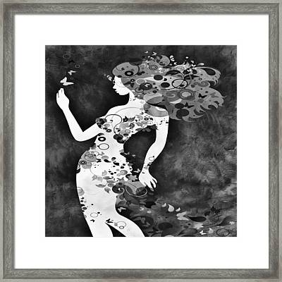 Wondering Bw Framed Print
