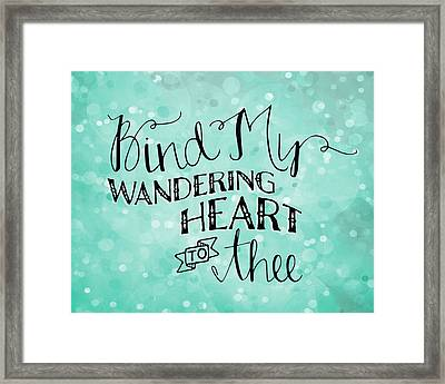 Wondering Heart Framed Print by Amy Cummings