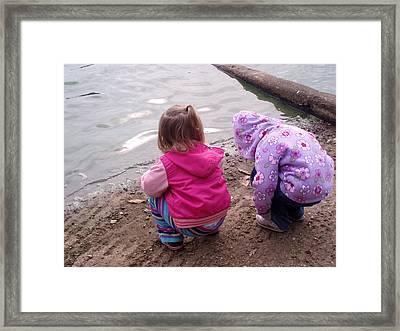 Wondering Innocence Framed Print