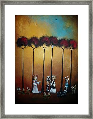Wonderland Tea Party Framed Print by Charlene Zatloukal