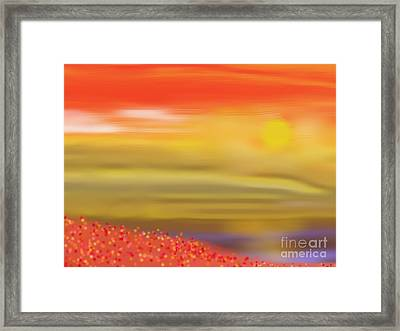 wonders of Dawn Framed Print
