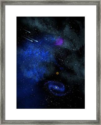 Wonders Of The Universe Mural Framed Print