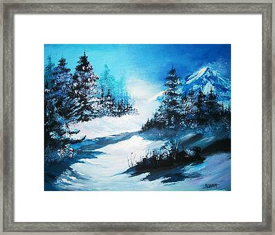 Framed Print featuring the painting Wonders Of Winter by Al Brown