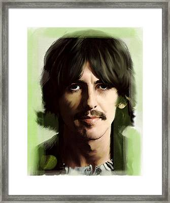 Wondersun George Harrison Framed Print by Iconic Images Art Gallery David Pucciarelli