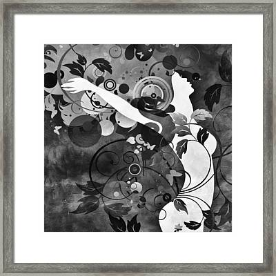 Wondrous Bw Framed Print by Angelina Vick