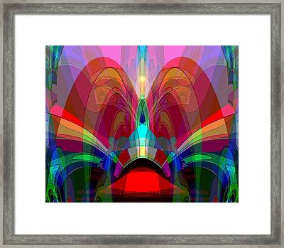 612 - Wondrous Machine Outburst  Framed Print by Irmgard Schoendorf Welch