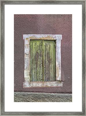 Wonky Window Framed Print