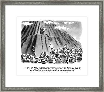 Won't All These New Rules Impact Adversely Framed Print by Ed Fisher