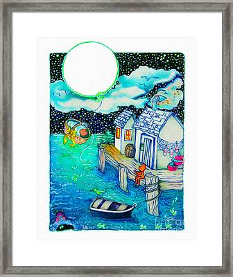 Woobies Character Baby Art Colorful Whimsical Design By Romi Neilson Framed Print by Megan Duncanson