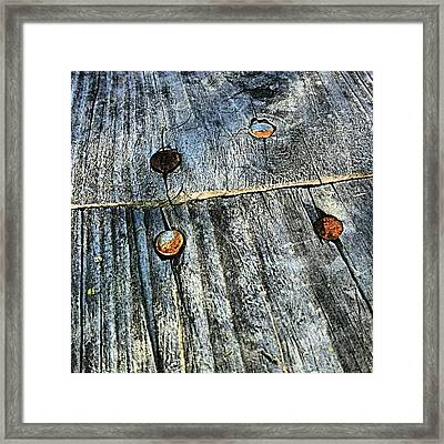 Wood / Rusty Nails Framed Print