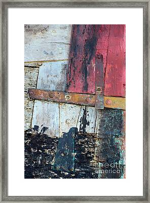 Wood And Metal Abstract Framed Print by Jill Battaglia
