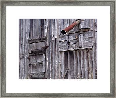 Wood And Rust Framed Print by John Glass