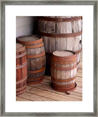 Wood And Rust Framed Print