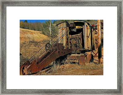 Wood And Steel Framed Print by Mike Flynn