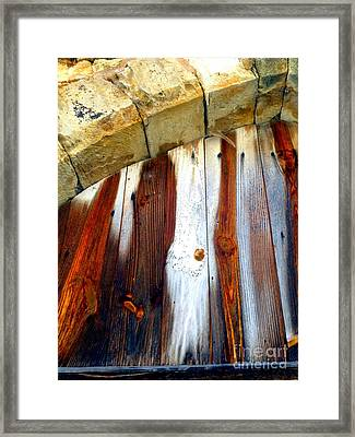 Wood And Stone Framed Print by Lauren Leigh Hunter Fine Art Photography