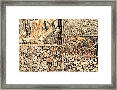 Wood And Straw Framed Print