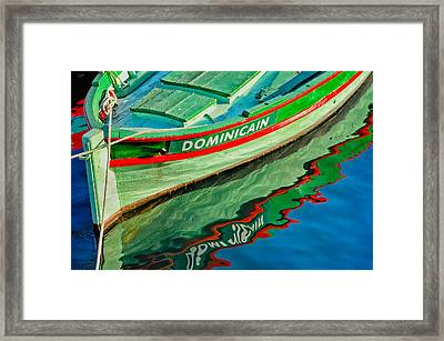 Wood And Water Framed Print by Joan Herwig