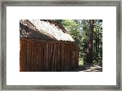 Wood Barn At Lake Tahoe Framed Print