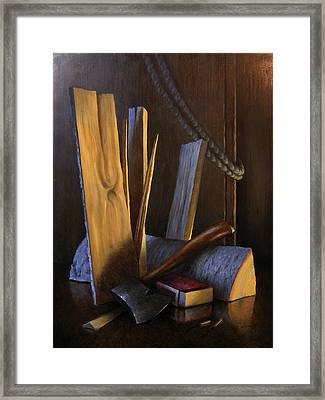 Wood Box Framed Print by Timothy Jones