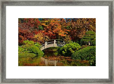 Wood Bridge Framed Print
