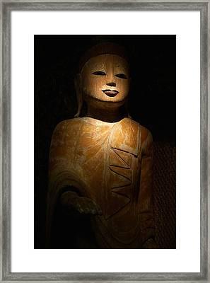 Wood Buddha Statue Framed Print