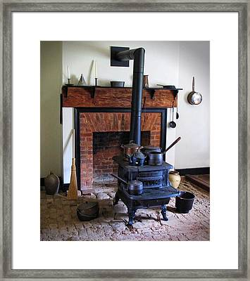 Wood Burning Stove Framed Print by Dave Mills