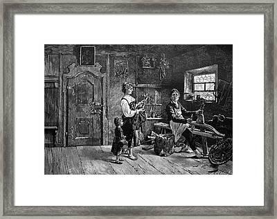 Wood Carver Framed Print